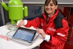 Fujitsu's new tablets are waterproof. Or this girl has ruined a pefectly good device.