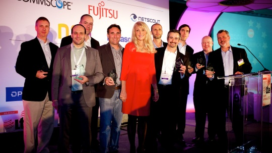 All the winners with host, Vicki Livingston, Head of Communications & Analyst Relations, 4G Americas