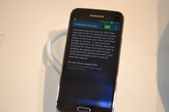 Samsung Galaxy S5 double boost