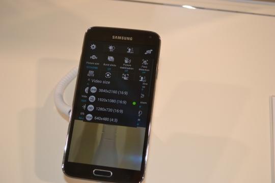 Samsung Galaxy S5 4K video