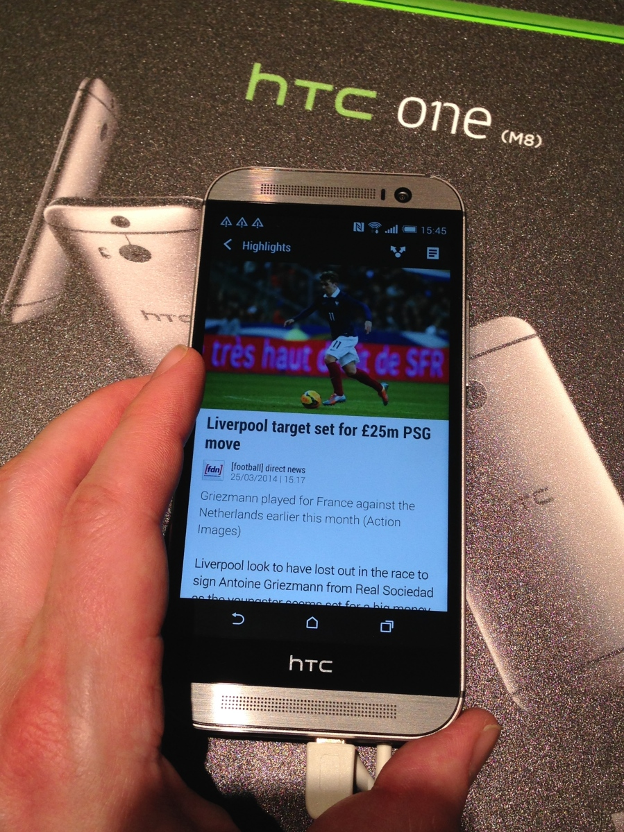 Update: Classy HTC One M8 impresses but eschews VoLTE and LTE-A
