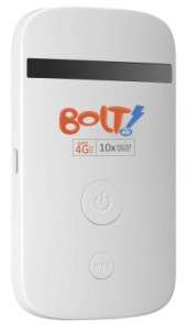 The pocket sized Bolt! streams 4G to smartphones, tablets or laptops – making high speed LTE accessible on the move.